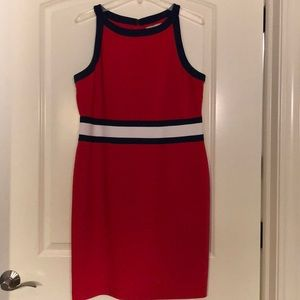 Red white and blue NWT banana republic dress